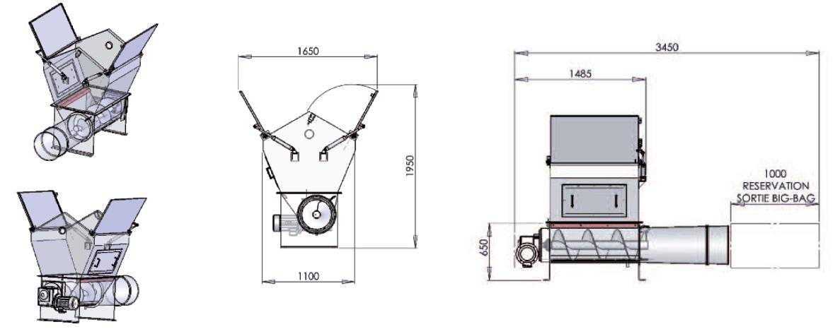 dimensions bag compactor