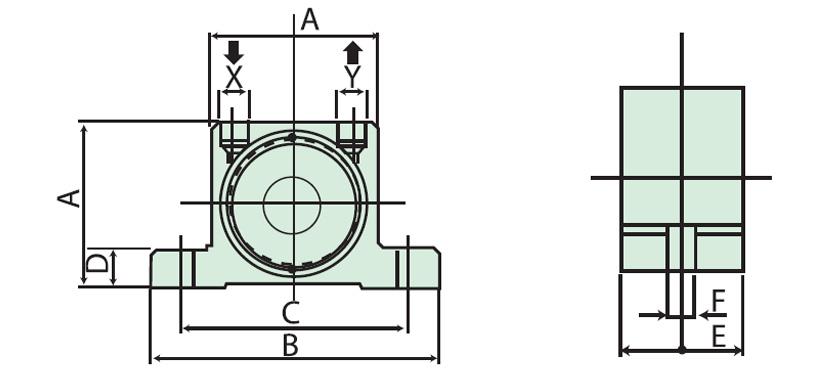 dimensions pneumatic roller vibrators