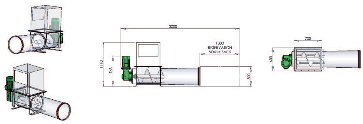 dimensions sack compactor