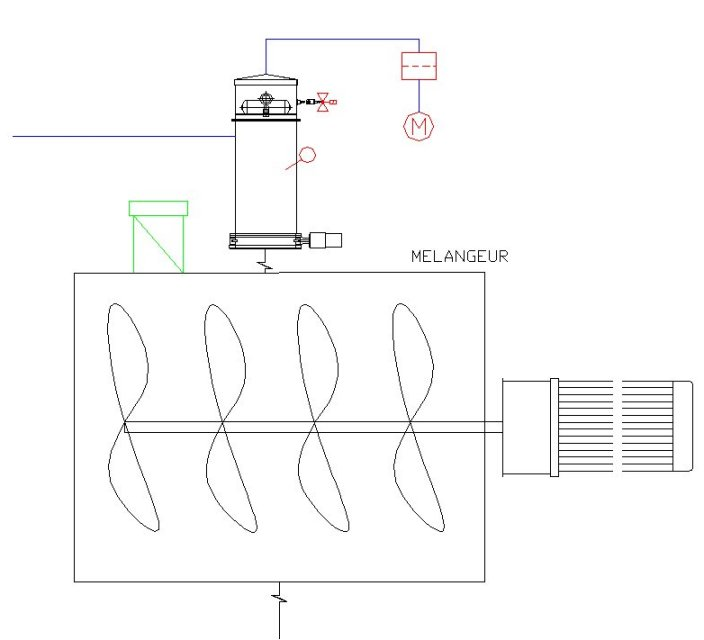 Implantation filtre degazage poudre