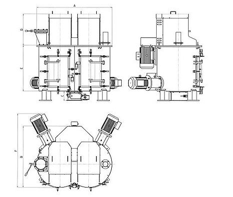 vertical mixer for powders dimensions palamatic